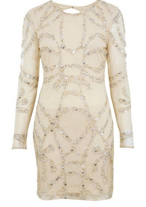 Robe Miss Selfridge ornée blanc