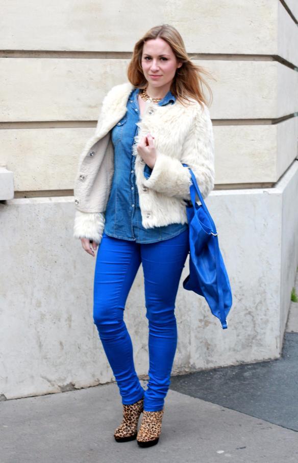 Blue & Faux Fur 4