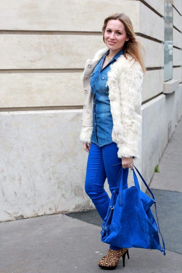Blue & Faux Fur 1
