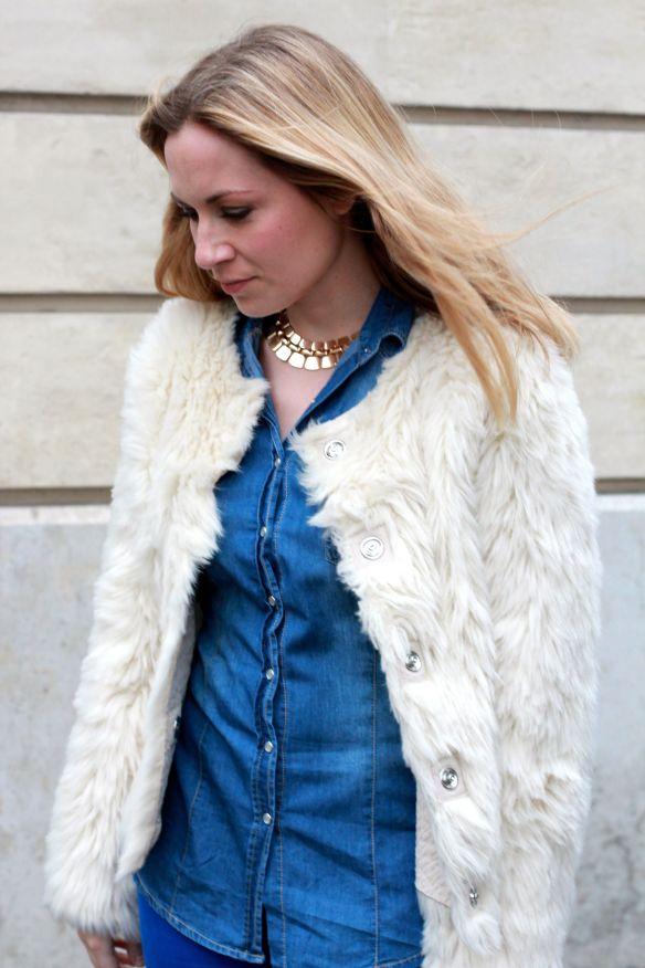 Blue & Faux Fur 2