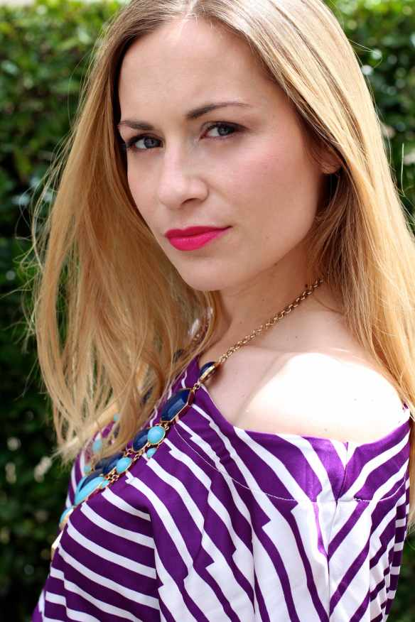 White & Purple Dress 5