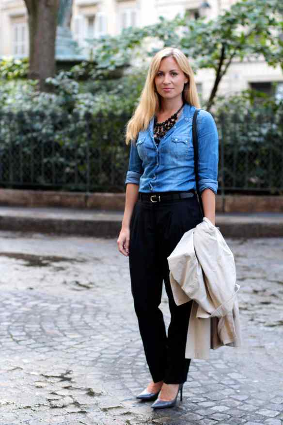 Chemise en Jeans en mode Working Girl 8