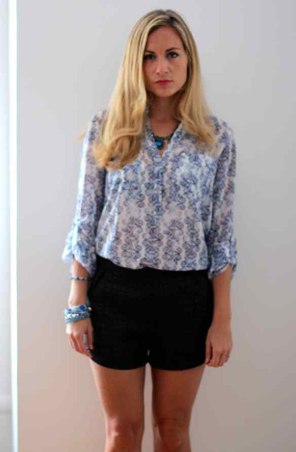 Blouse, short, talons: My Favorite combo! 7