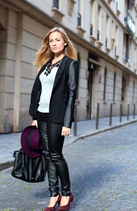 Style Leather, Black & Burgundy 1
