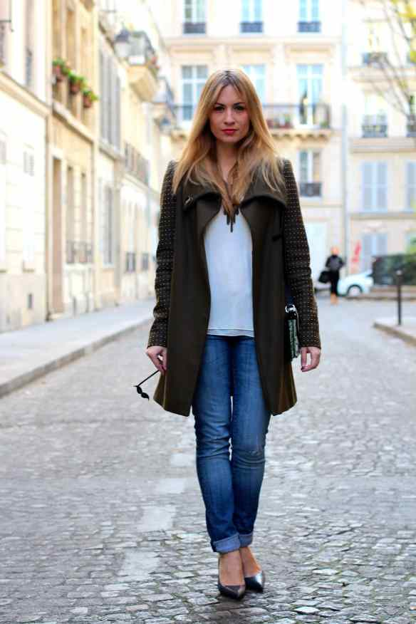 Un jeans, des escarpins un manteau Kaki et le tour est joué! 4