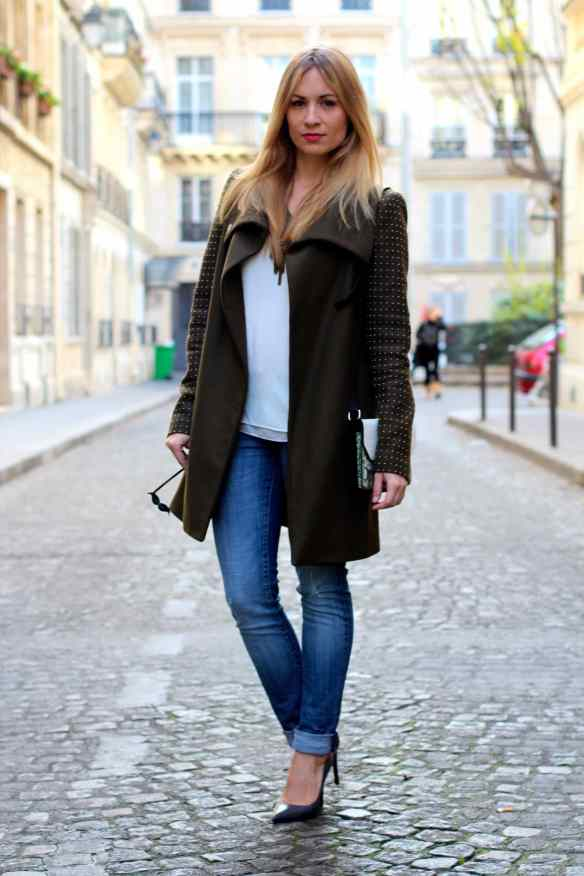 Un jeans, des escarpins un manteau Kaki et le tour est joué! 5