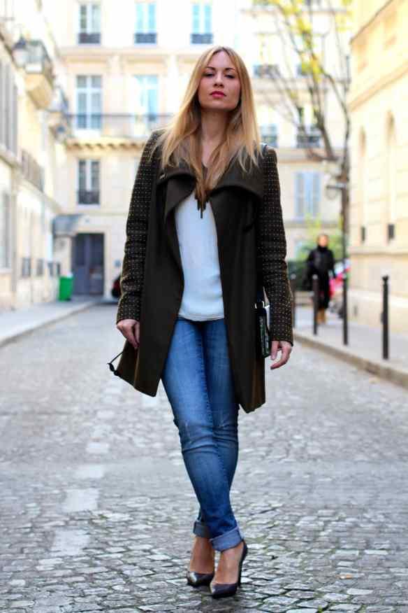 Un jeans, des escarpins un manteau Kaki et le tour est joué! 6