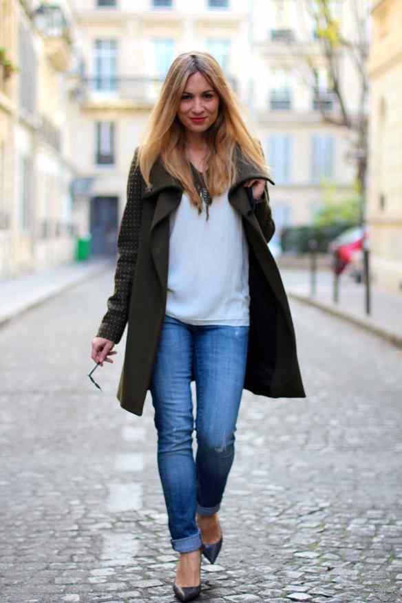 Un jeans, des escarpins un manteau Kaki et le tour est joué! 8