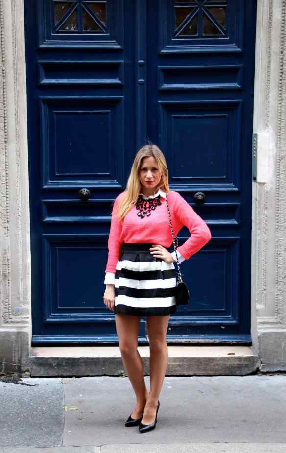 Skirt with Black and White Stripes 2
