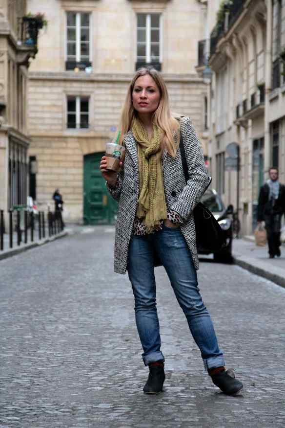 Casual style: Jeans Boots & Coat 1