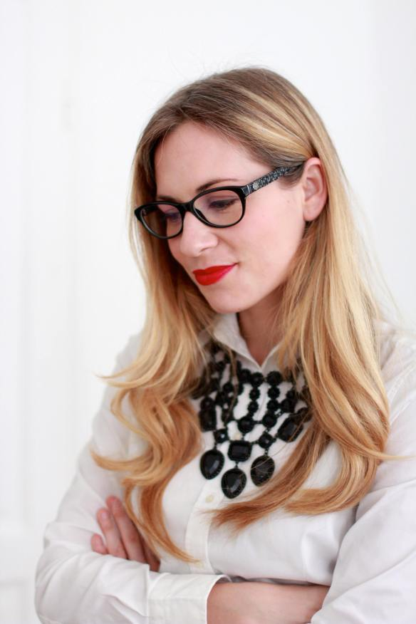 A Working Girl with Chanel Glasses 1