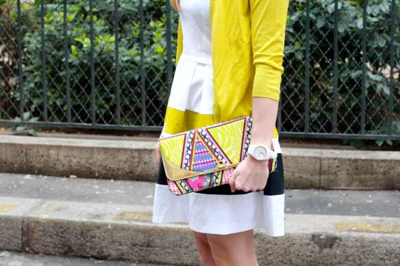 Preppy Dress - White & Yellow - 7