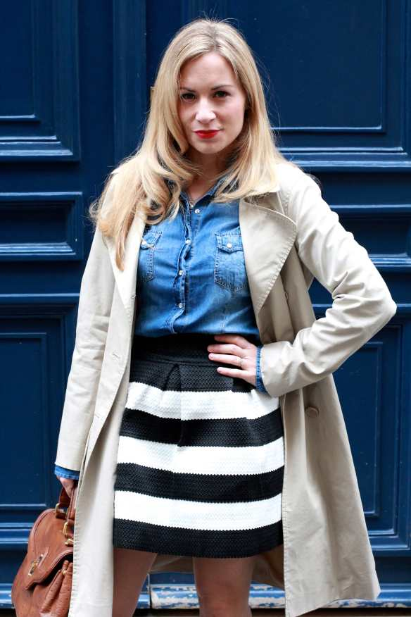 Stripes, Denim & Trench 3