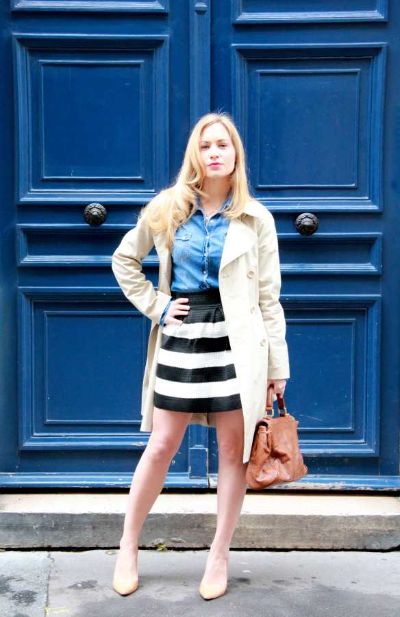 Stripes, Denim & Trench 2