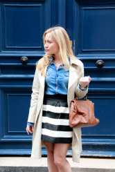Stripes, Denim & Trench 1