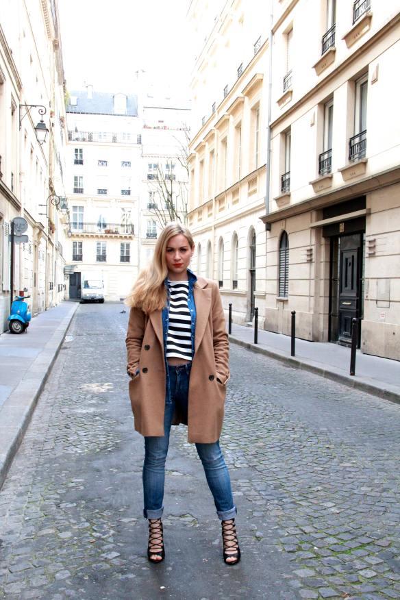 Un look décontracté tout en Jeans et Rayures pour finir la semaine 2