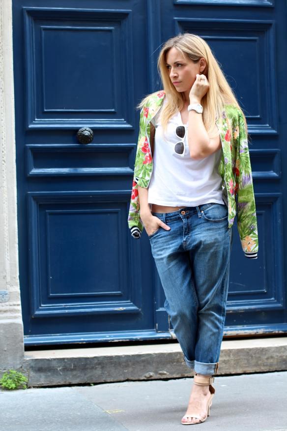 Cool & Féminine dans Paris jennyontheblogmode jeans boyfriend