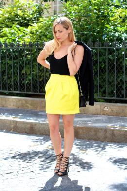 Une Jupe Raj(au)nissante - jennyontheblogmode blog mode fashion blog jupe jaune chaussures à lassées zara
